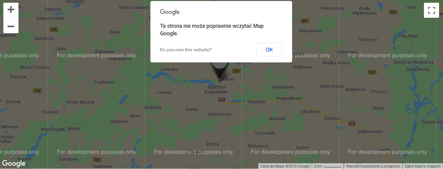 mapa Google bez klucza API